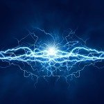 Electric lighting effect, abstract techno backgrounds for your d
